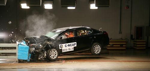 Roewe 950 C-NCAP crash test 40% 64km/h