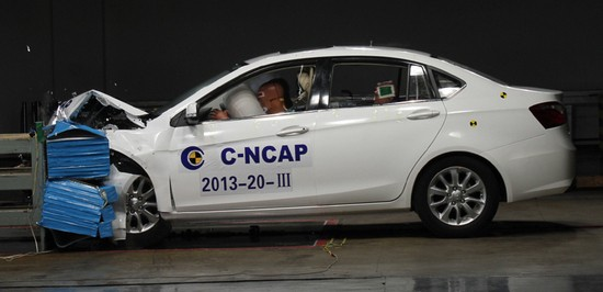 Dongnan V5 C-NCAP crash test 40% 64km/h