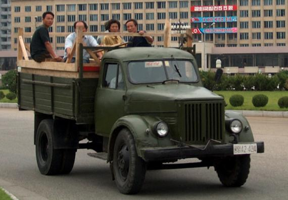 North Korean Truck Sungri 58, carrying 4 people